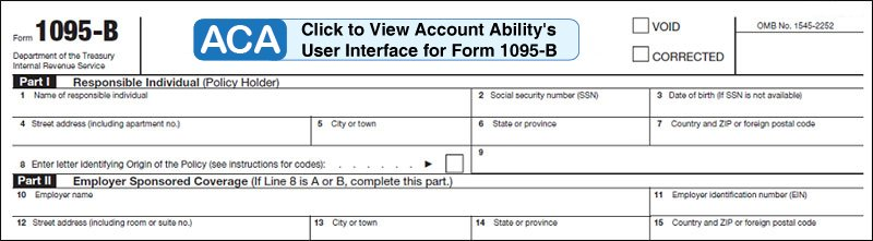 ACA software to E-File and print 1095-B and 1094-B forms