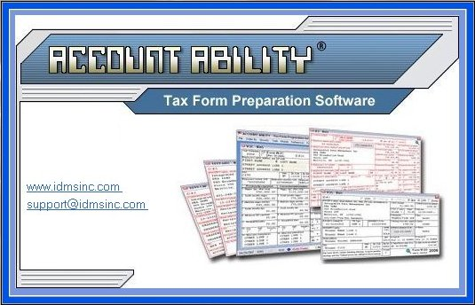 Account Ability Tax Form Preparation Software